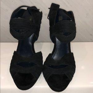 Zara black buckle sandals. Size 40